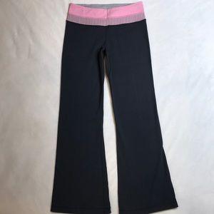 Lululemon grey/pink/stripe reversible groove pants